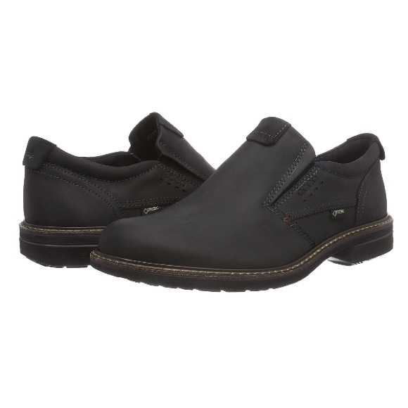 Ecco Turn Leather Slip-On Round Toe Loafers Shoes